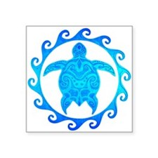 Ocean Blue Turtle Sun Sticker