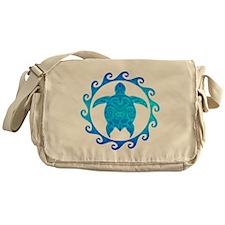 Ocean Blue Turtle Sun Messenger Bag