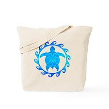 Ocean Blue Turtle Sun Tote Bag