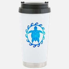Ocean Blue Turtle Sun Travel Mug