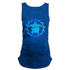 Ocean Blue Turtle Sun Maternity Tank Top