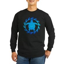 Ocean Blue Turtle Sun Long Sleeve T-Shirt