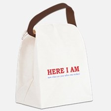 Here I Am! Canvas Lunch Bag