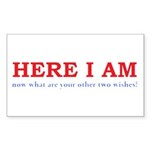 Here I Am! Sticker (Rectangle 10 pk)