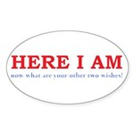 Here I Am! Sticker (Oval 50 pk)