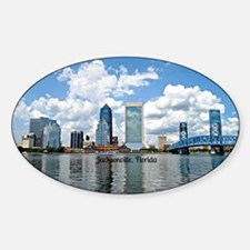 Jacksonville, Florida cityscape Decal