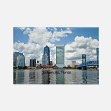 Jacksonville, Florida cityscape Rectangle Magnet