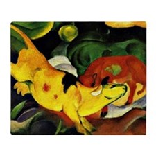 Franz Marc: Cows-Yellow, Red, Green, Throw Blanket