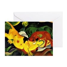 Franz Marc: Cows-Yellow, Red, Green, Greeting Card