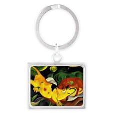 Franz Marc: Cows-Yellow, Red, G Landscape Keychain