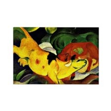Franz Marc: Cows-Yellow, Red, Gre Rectangle Magnet