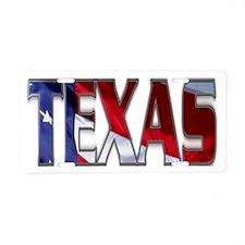 Patriotic Texas Aluminum License Plate