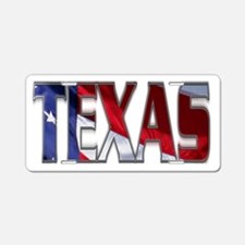 Patriotic Texas Aluminum License Plate