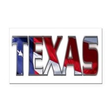 Patriotic Texas Rectangle Car Magnet