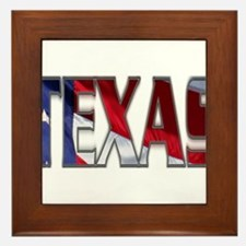 Patriotic Texas Framed Tile