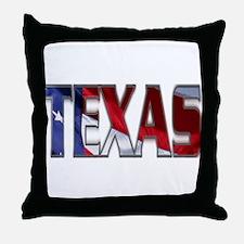 Patriotic Texas Throw Pillow
