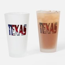 Patriotic Texas Drinking Glass