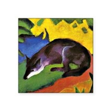 "Franz Marc: Blue Fox Square Sticker 3"" x 3"""