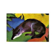 Franz Marc: Blue Fox Rectangle Magnet