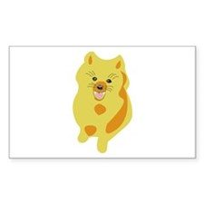 Red Blond Giner Pomeranian Puppy Decal