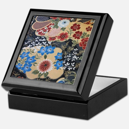 floral japanese textile Keepsake Box