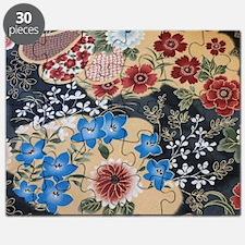 floral japanese textile Puzzle