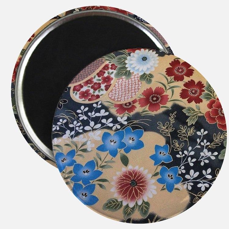 floral japanese textile Magnet