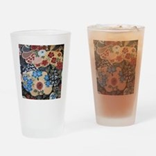 floral japanese textile Drinking Glass