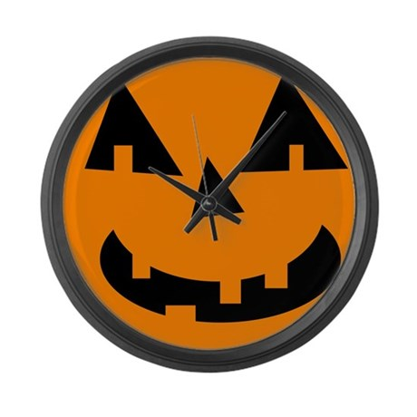 Cute Jack o lantern Large Wall Clock