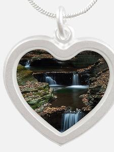 Watkins Glen Silver Heart Necklace