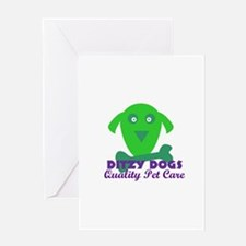 Ditzy Dogs logo Greeting Cards