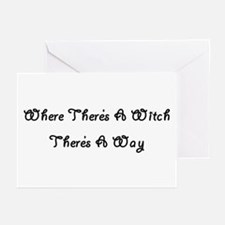 Where There's A Witch Greeting Cards (Pk of 10