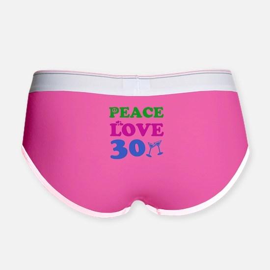 Peace Love 30 Women's Boy Brief