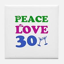 Peace Love 30 Tile Coaster