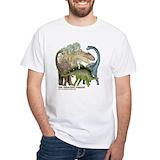 Dinosaurs Mens White T-shirts