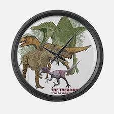 theropods.jpg Large Wall Clock