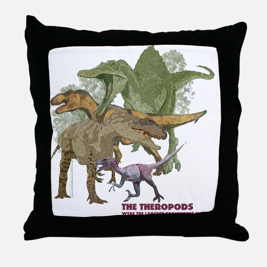 theropods.jpg Throw Pillow