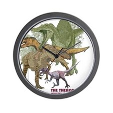 theropods.jpg Wall Clock