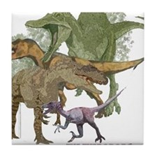 theropods.jpg Tile Coaster
