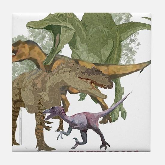 theropods.jpg Tile Coaster