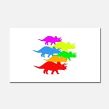 Triceratops Family Car Magnet 20 x 12