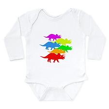 Triceratops Family Long Sleeve Infant Bodysuit