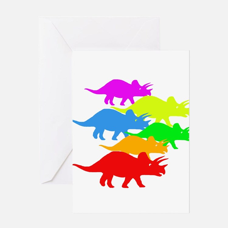 Triceratops Family Greeting Card
