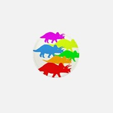 Triceratops Family Mini Button (10 pack)
