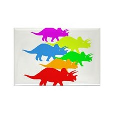 Triceratops Family Rectangle Magnet