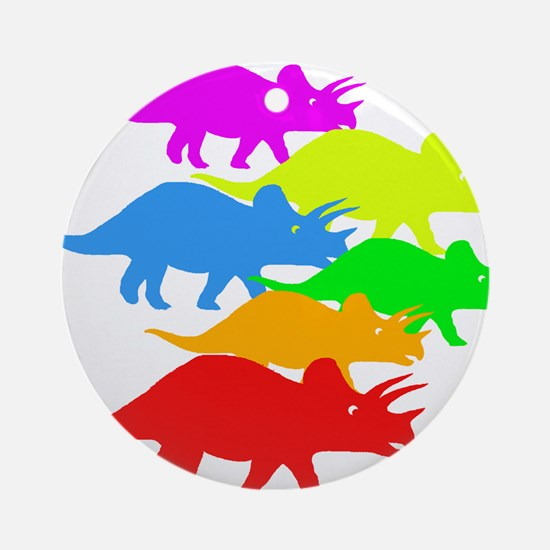 Triceratops Family Ornament (Round)