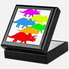Triceratops Family Keepsake Box