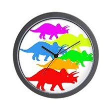 Triceratops Family Wall Clock