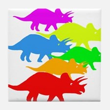 Triceratops Family Tile Coaster