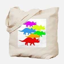 Triceratops Family Tote Bag